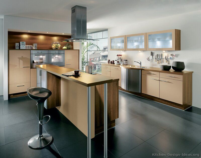 Ordinary Kitchen Design Ideas Org Part - 12: Modern Beige Kitchen Cabinets #TT186 (Alno.com, Kitchen-Design-Ideas
