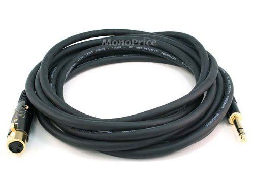 Monoprice 15ft Gold Plated 16awg Xlr Female To 1 4 Inch Trs Male Cable By Monoprice 15 46 Monoprices Line Of Professional Audio C Monoprice Trs Audio Cables