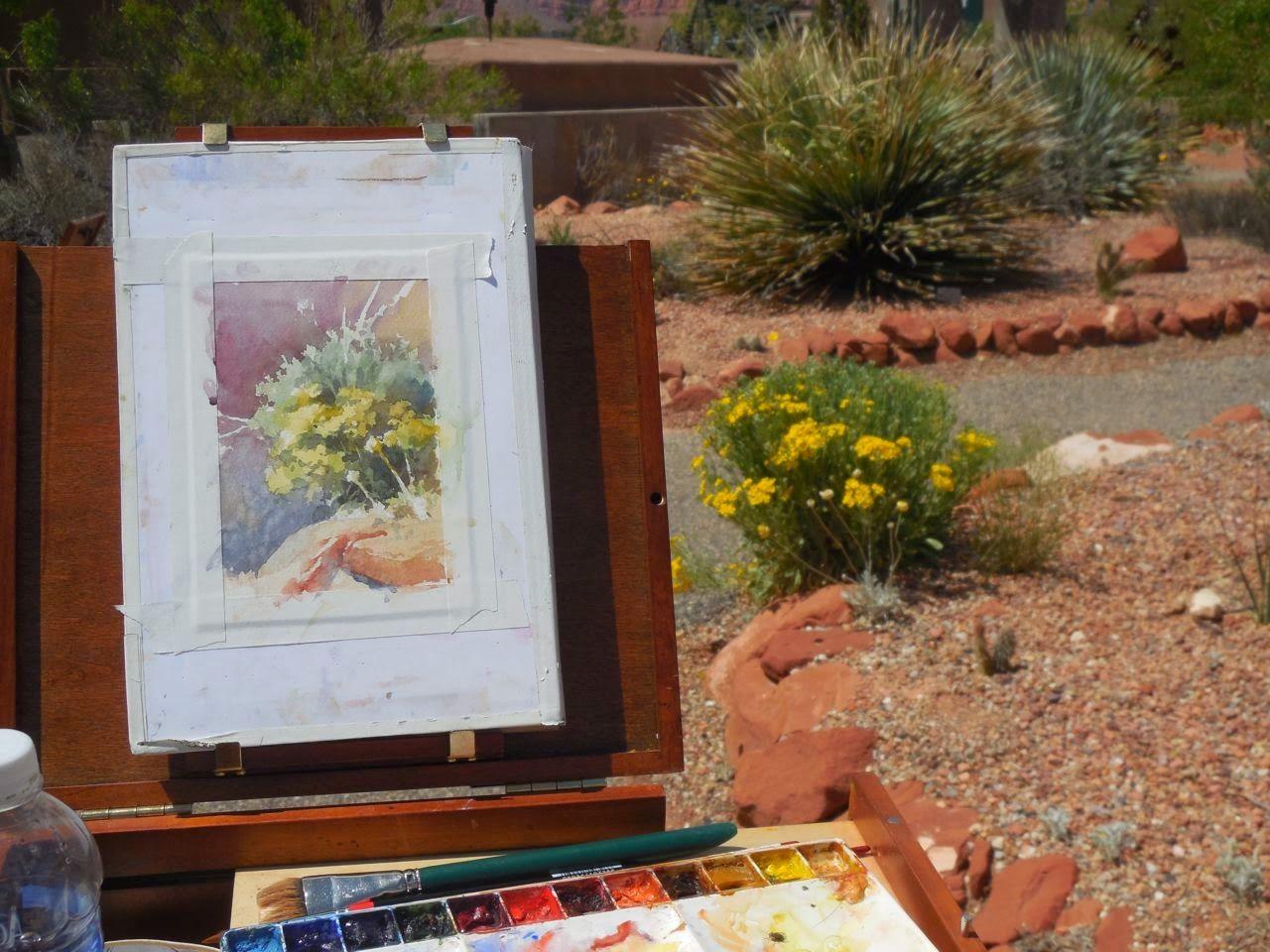 Roland Lee Travel Sketchbook Painting Plein