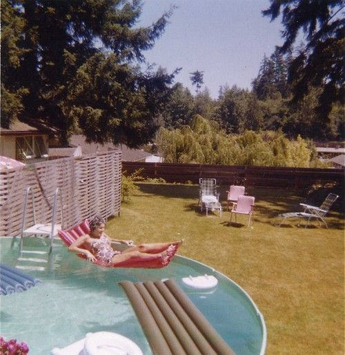 Backyard Swimming Pool, 1960s. Spent All Our Summers In