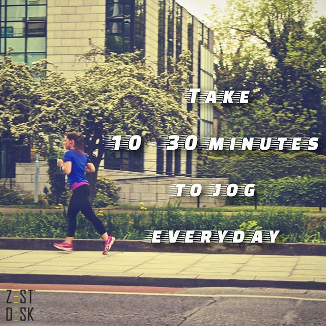 With the advent of technology, most individuals lead a sedentary lifestyle. Plus sitting in front  of a computer all day at work is not helping at all. Take your running shoes out and jog daily! Here at Zest Desk, we make your health as a top priority. SEE MORE HERE: https://www.instagram.com/zestdesk_anywhere/