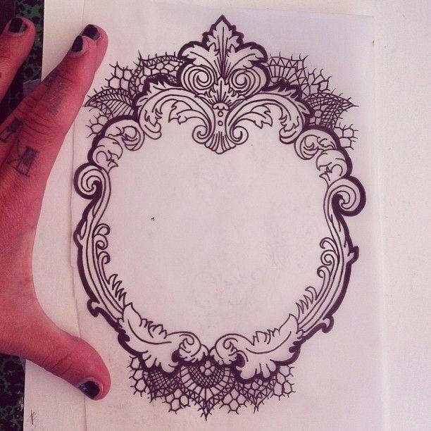 Vintage Victorian Style Frame Framed Tattoo Mirror Tattoos Tattoos