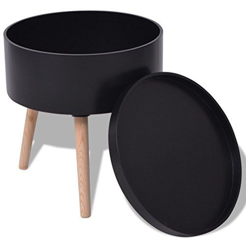 c9dc1ca41c Festnight Multifunctional Round Side End Table with Serving Tray 15.6