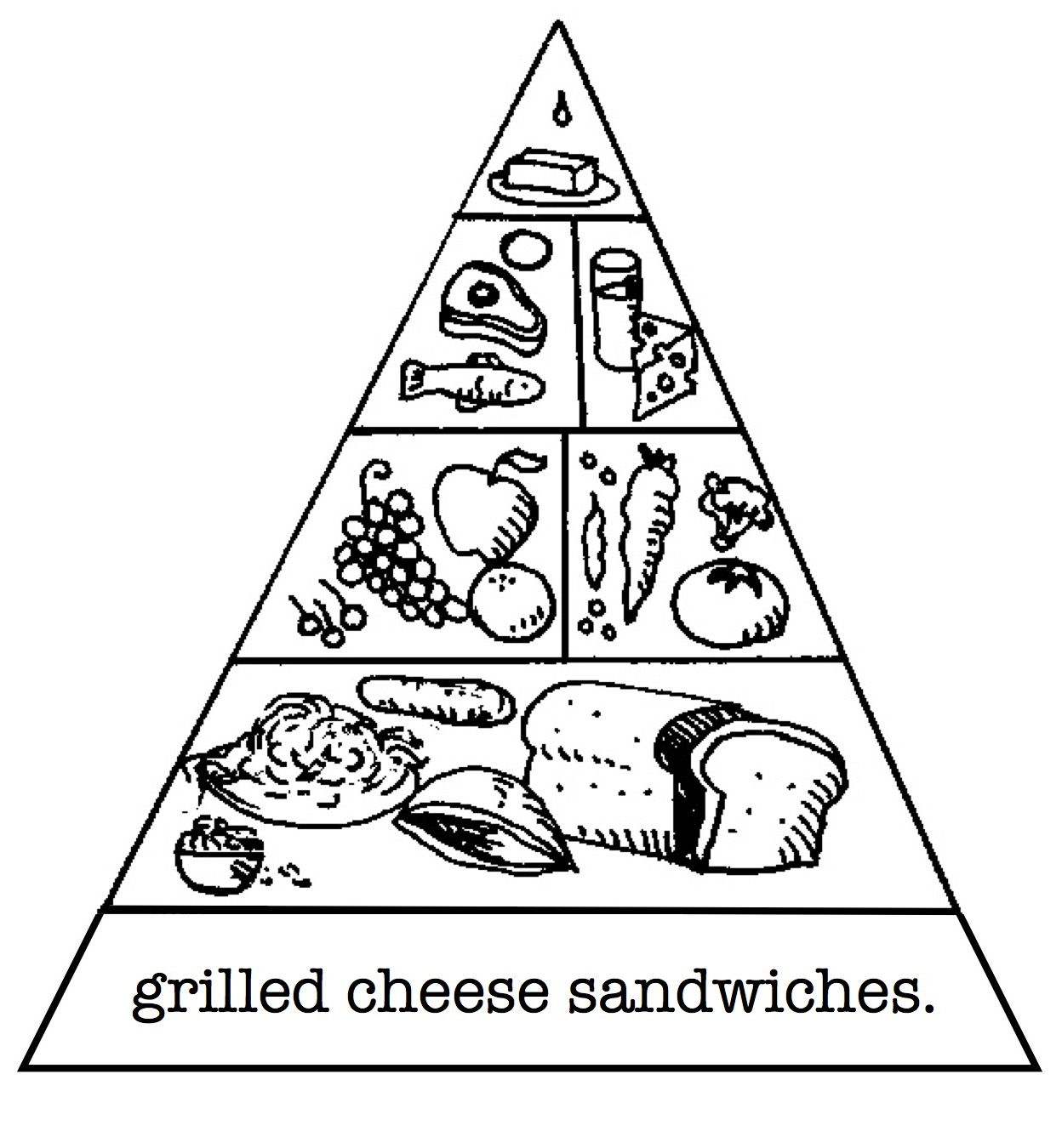Pyramid Healthy Food Coloring Pages | color me happy | Pinterest ...