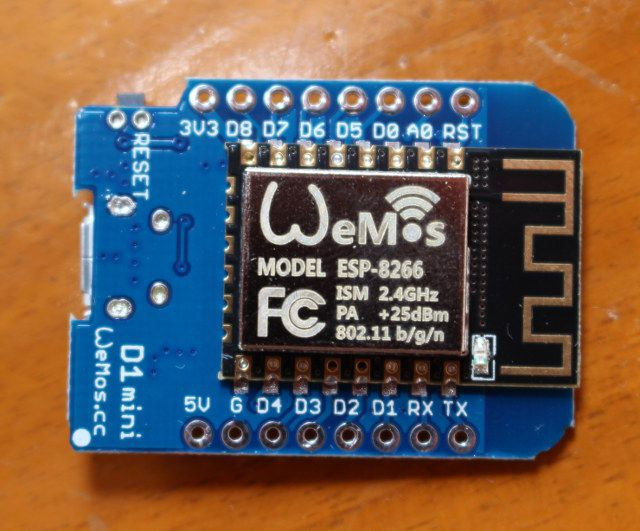 Getting started with wemos d mini esp board dht