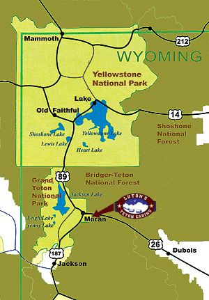 The perfect location near Yellowstone and the Grand Tetons Places