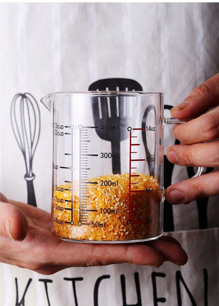 Food Grade Borosilicate Glass Measuring Cups Pot Kettle