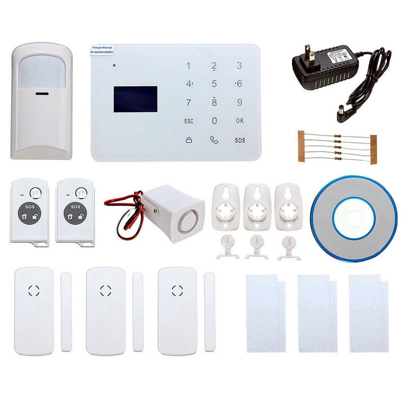 From China Doorbell Doorbells Wireless Suppliers Gsm Remote Control Ir Smoke Sensor Home House Security Alarm System Function