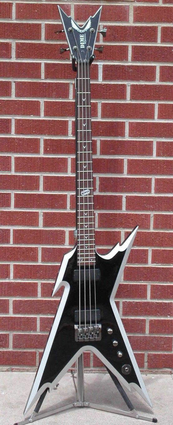 Dean Razorback Bass Black Silver Neck Thru 4 String