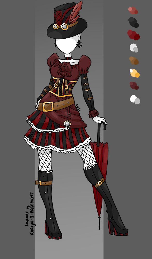 Steampunk Outfit Adoptable Ota Closed By Grimmadopts Deviantart Com On Deviantart Steampunk Clothing Drawing Anime Clothes Anime Outfits