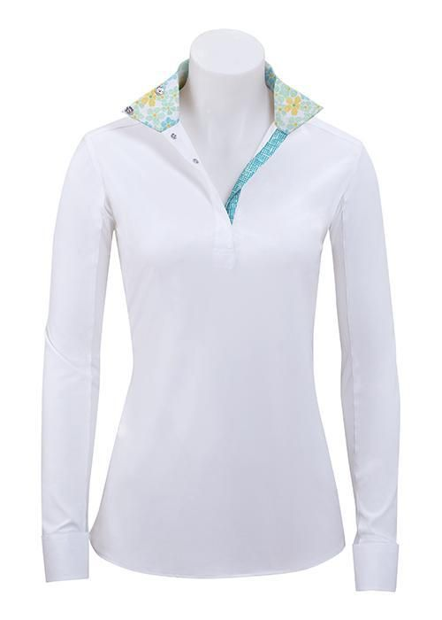 45116363d George H Morris Ladies Champion Long Sleeve Show Shirt - White/Wine | George  H Morris | Waterproof lipstick, Shirts, Long sleeve