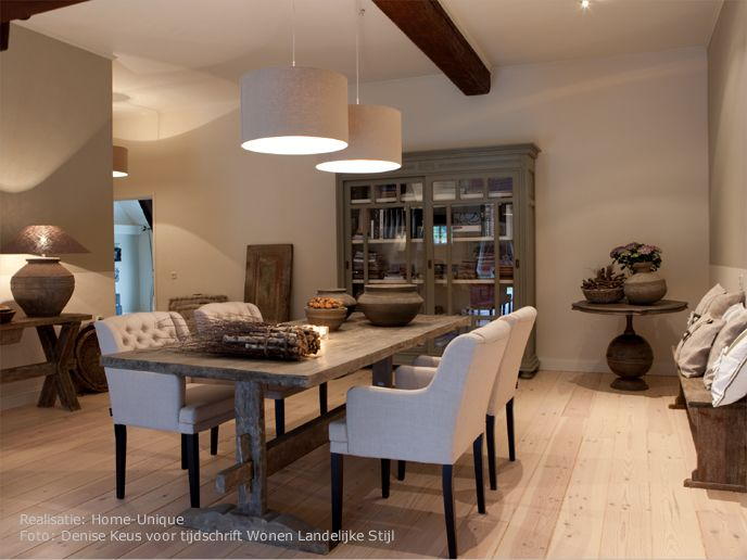 Landelijk wonen woonkamer pinterest interieurontwerp for Interieur landelijk wonen