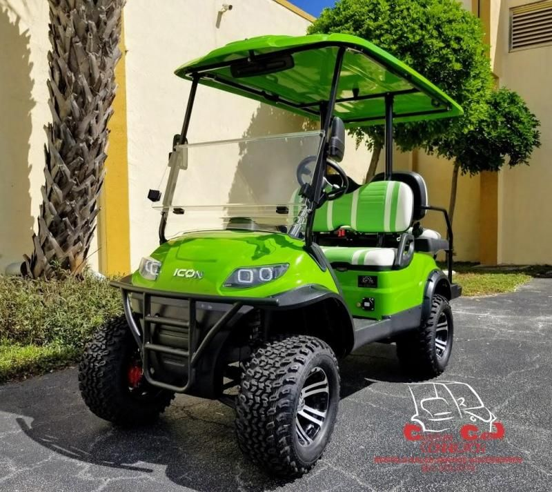 2020 Icon I40l Lime Green Golf Cart Electric Vehicle Custom Golf Carts And Golf Cart Custom Builds In West Pa In 2020 Golf Carts Electric Golf Cart Custom Golf Carts