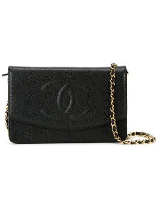 4c00984394 Chanel Vintage embossed logo crossbody bag
