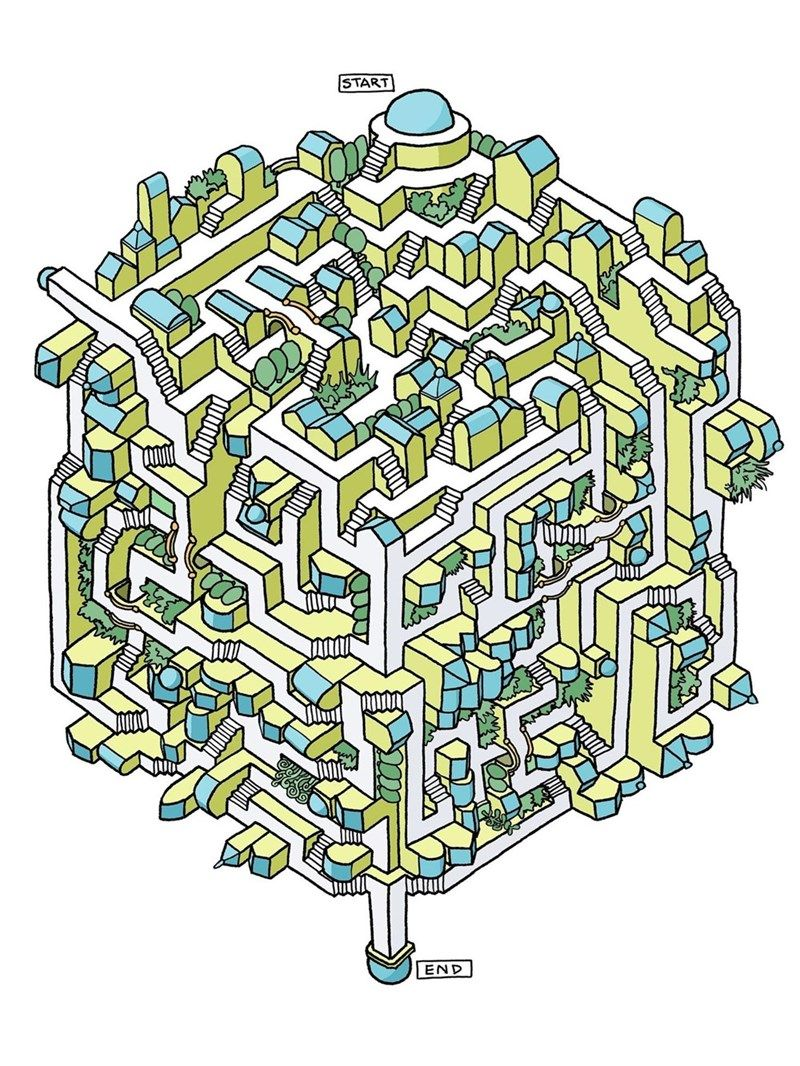 Twenty Five Difficult And Enjoyable Mazes Are The Perfect Distraction In 2021 Maze Drawing Maze Design Maze