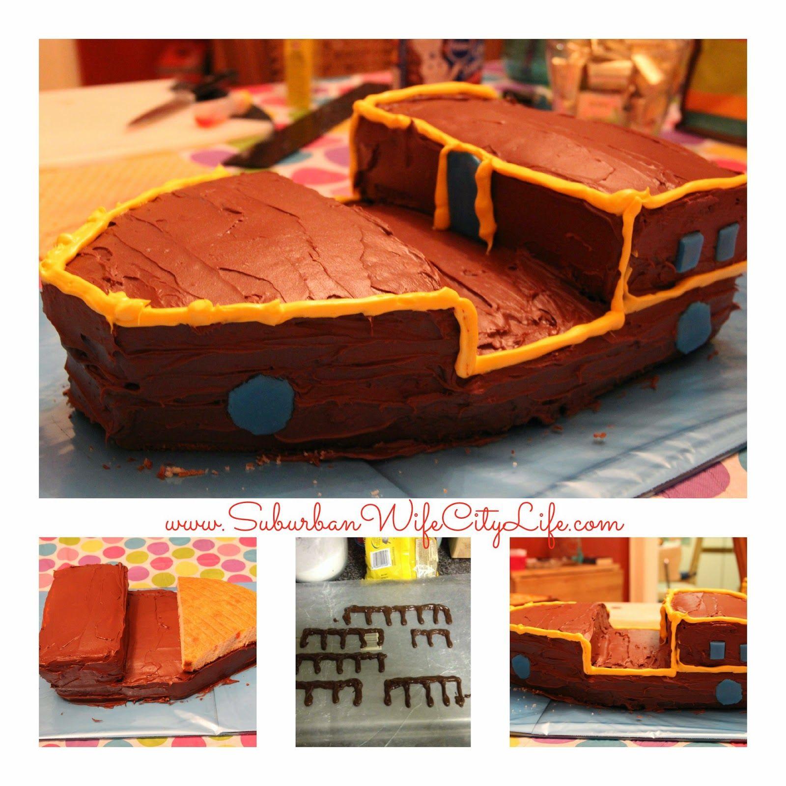 DIY Bucky Pirate Ship Cake Pirate ship cakes Pirate ships and Cake