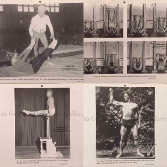 Pilates Guild 1998 Calendar Pictures Set 3 Calendar Pictures