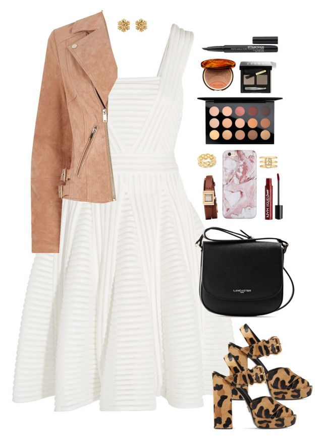 """""""It's all about them shoes"""" by xoxomuty on Polyvore featuring Maje, Prada, Lancaster, River Island, Gucci, Charlotte Russe, Soave Oro, MAC Cosmetics, Clarins and Bobbi Brown Cosmetics"""
