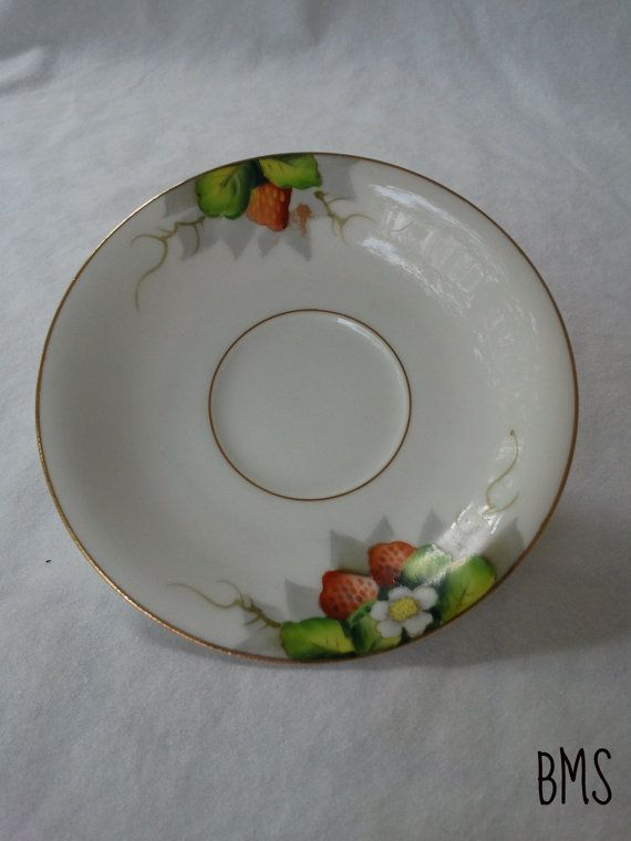 Strawberry Saucer Made in Occupied Japan @vintagepod $8