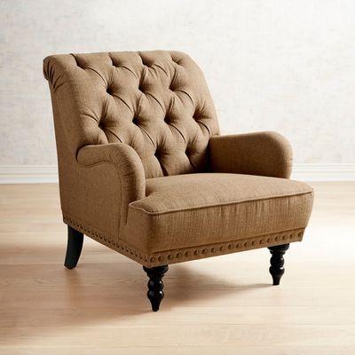 Chas Pierformance™ Chenille Bark Armchair | Armchair ...