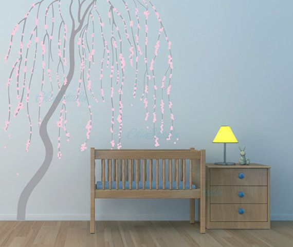 Vinyl Wall Decals Sticker Kids Decal Nursery Weeping Willow Tree On Etsy 85 00