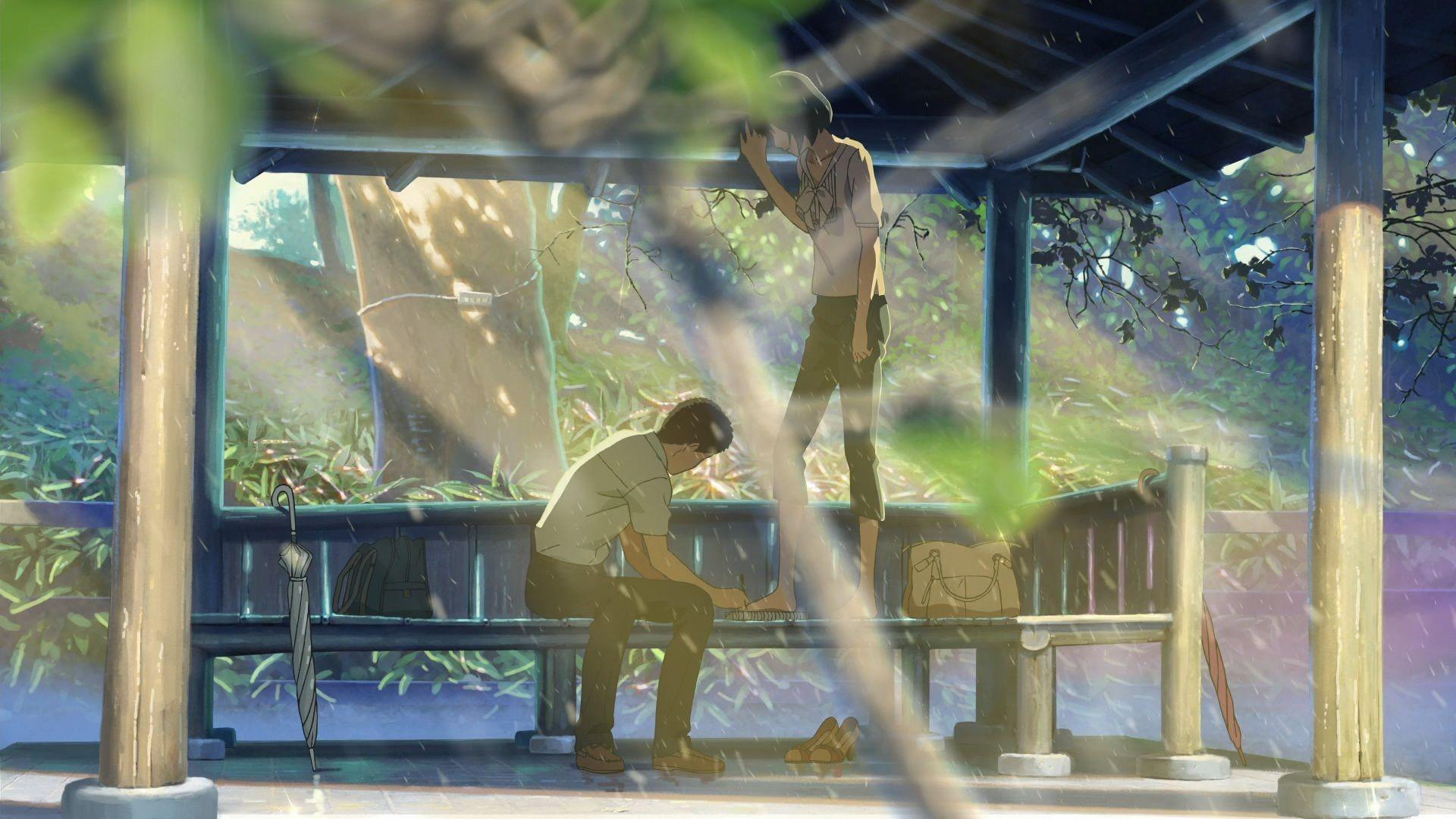 Koto no ha no Niwa Pemandangan anime, Studio ghibli