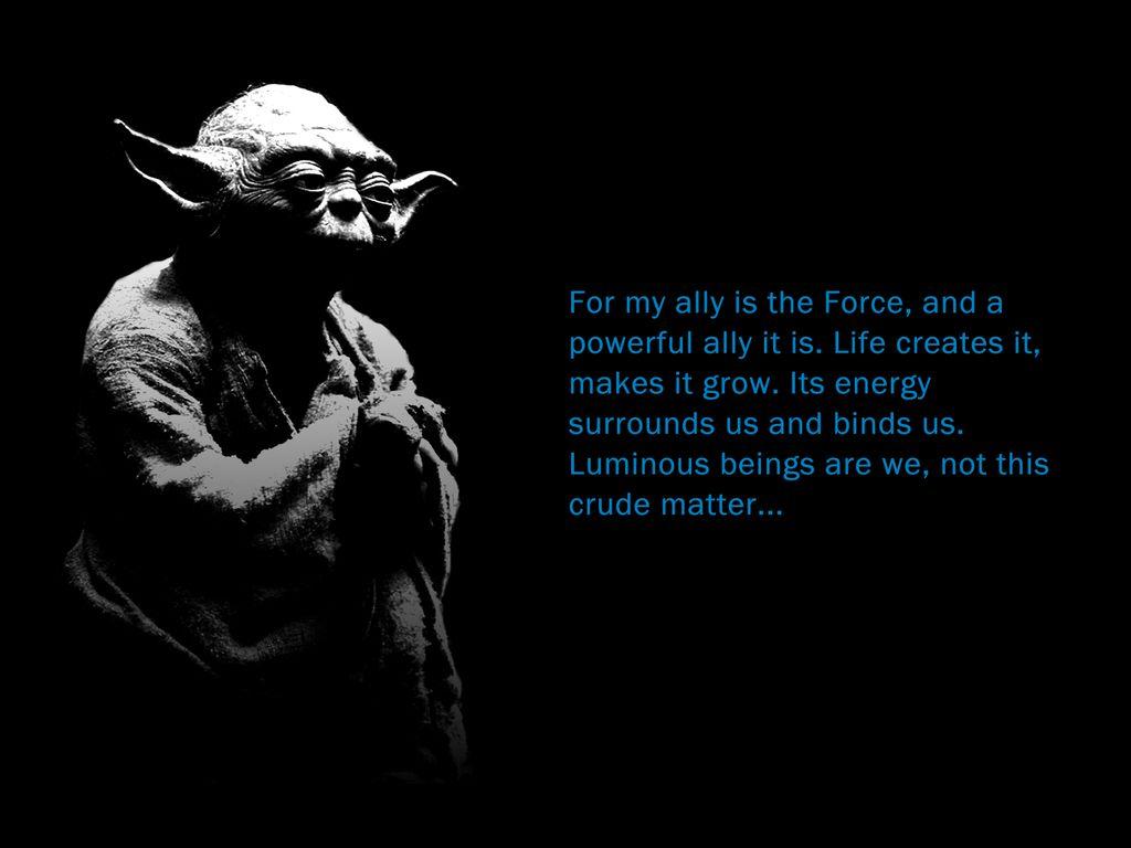 Yoda Wallpaper Yoda And The Force Wallpaper Yoda Pinterest