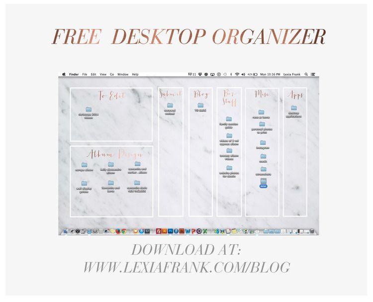 Free Computer Desktop Organizer Desktop Organization Desktop Wallpaper Organizer Organization