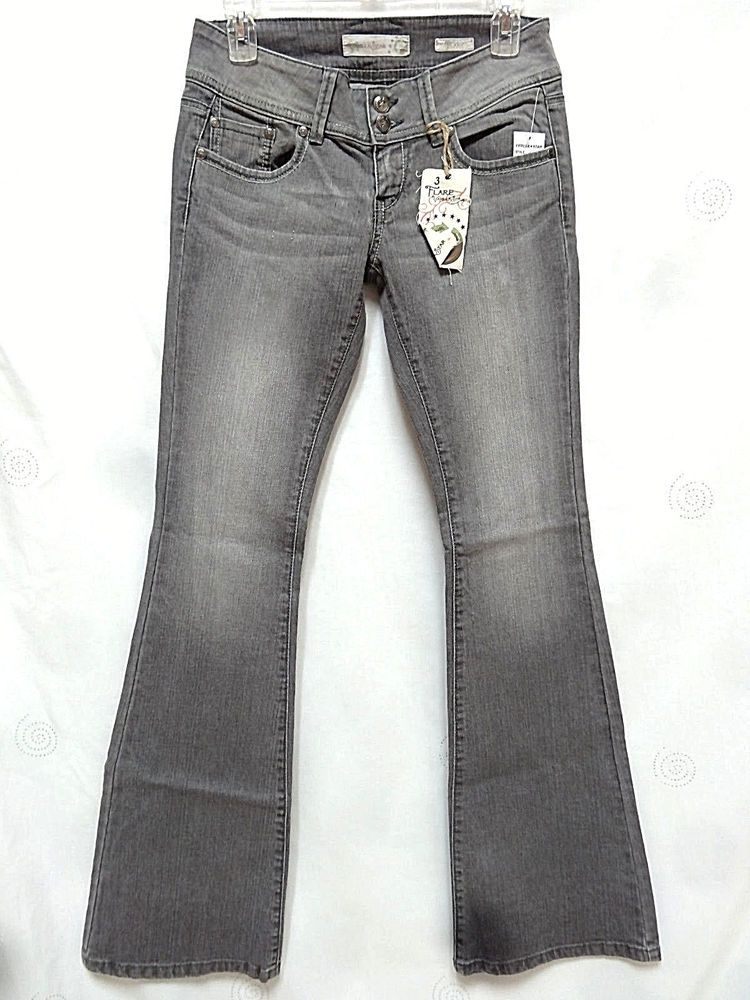 Rise Low Grey Mix 1 Vanilla Jeans Cotton Organic Star Juniors Flare f7vb6gyY