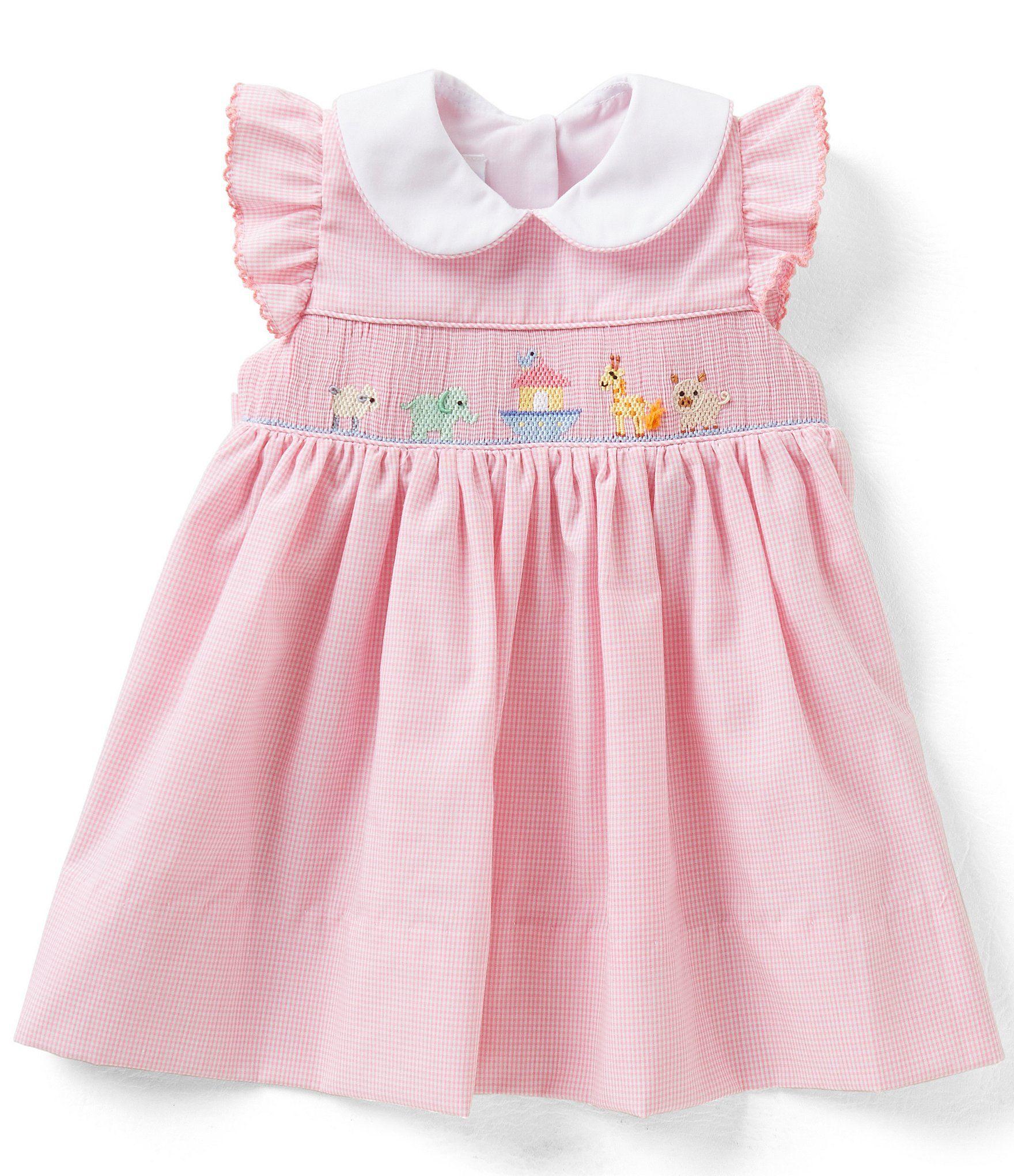 Edgehill Collection Baby Girls 3 9 Months Noah´s Ark Ruffle Sleeve