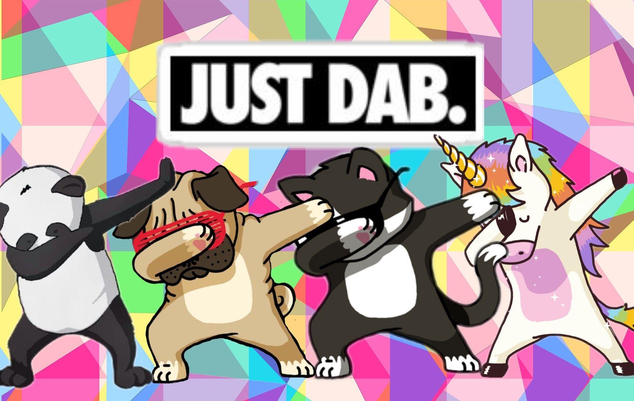 Freetoeditdab dabbing panda unicorn dog catremixed