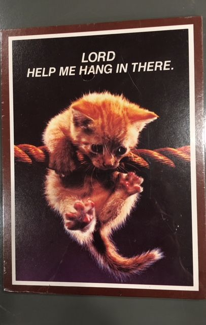 vintage 1988 action industries lord help me hang in there kitten plaque kitschy cute dollar ama sticker on back kitschy cute pinterest