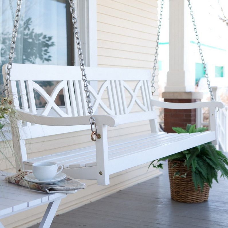 White Porch Swings How To Find The Best Wooden Porch