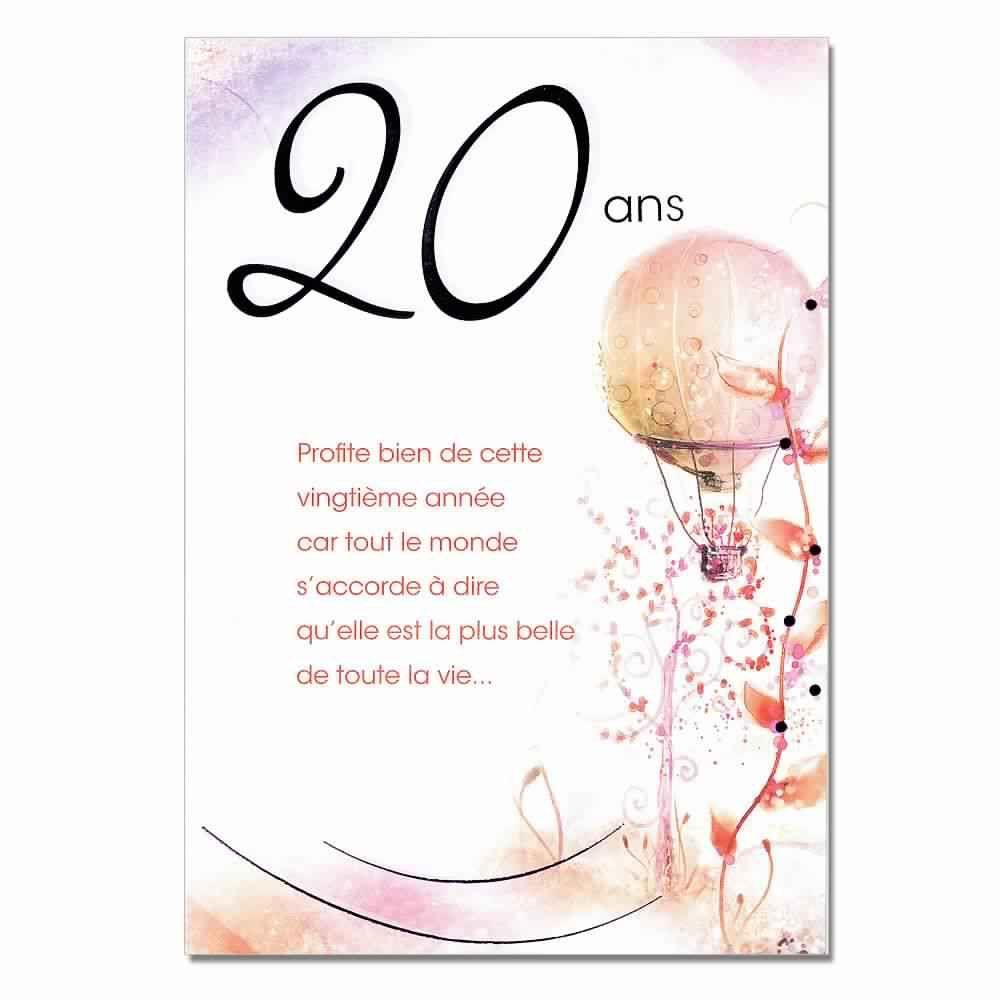 carte anniversaire 20 ans fille Carte invitation anniversaire 20 ans | Carte invitation