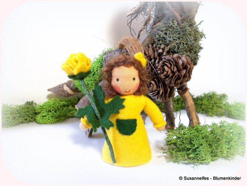 Jahreszeitentisch - Trollblume Blumenkinder Jahreszeitentisch - ein Designerstück von susannelfe bei DaWanda