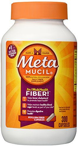 Metamucil Fiber Therapy for Regularity, Fiber Supplement, 300 Capsules ** You can get more details by clicking on the image.