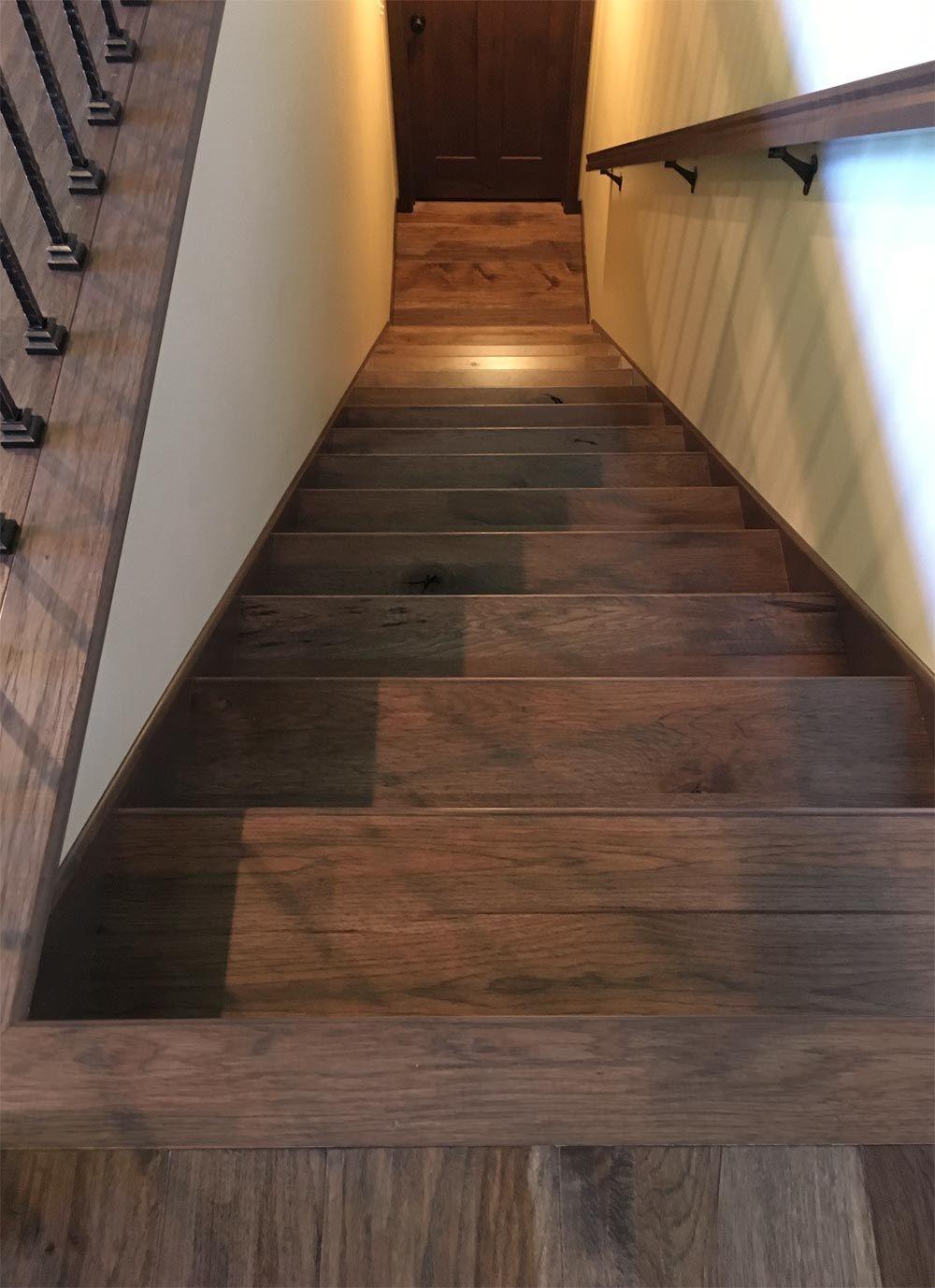 Hand Scraped Hickory Stair Treads Stair Treads Stairs Hardwood | Hand Scraped Stair Treads | Tread Width | Brazilian Cherry | Stair Parts | Hardwood Floors | Laminate Flooring