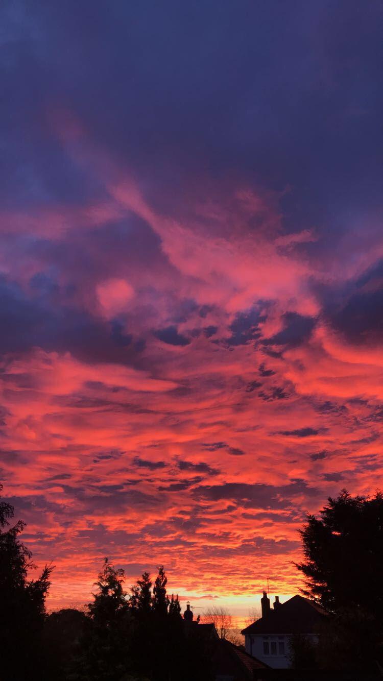 Sky Pink Sunrise Clouds Sky Aesthetic