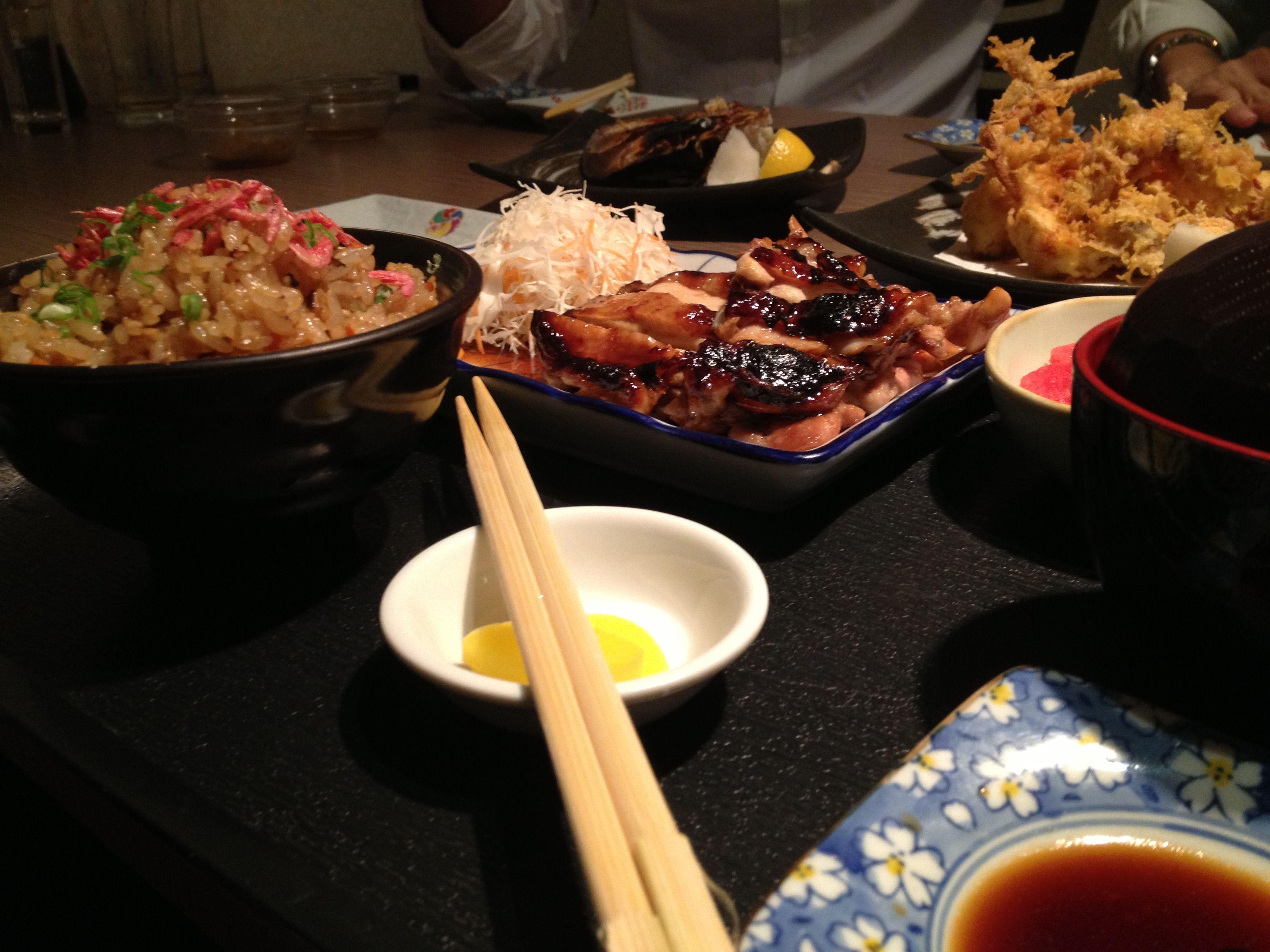 Heres why i stay broke garlic rice food teriyaki chicken