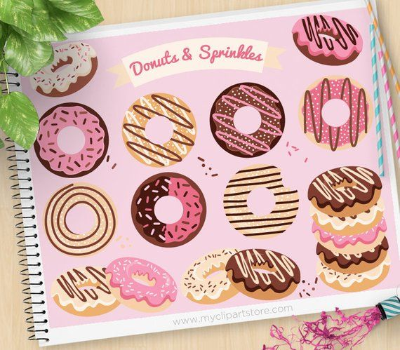 Donuts And Sprinkles Clipart Doughnuts Baked Goods Icing