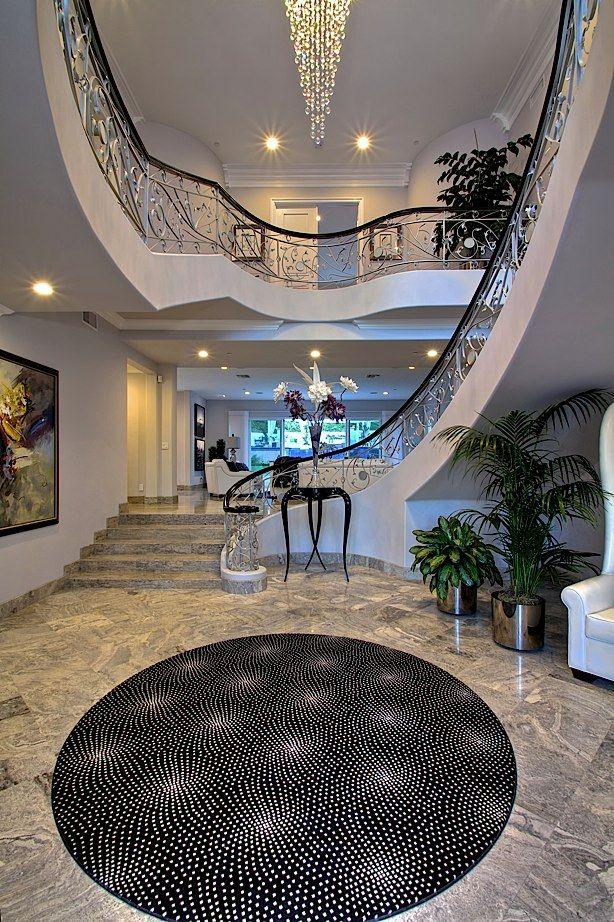 casas lujo mansiones de lujo gran escalera escaleras hermosas casas dream homes casa ideas decoracin del hogar