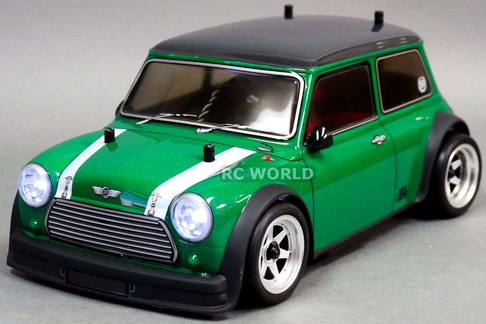 Abc Hobby 1 10 Rc Car Fwd Bmw Mini Cooper Racing L E D Lights Ready To Run Rc Cars Mini Cooper Car