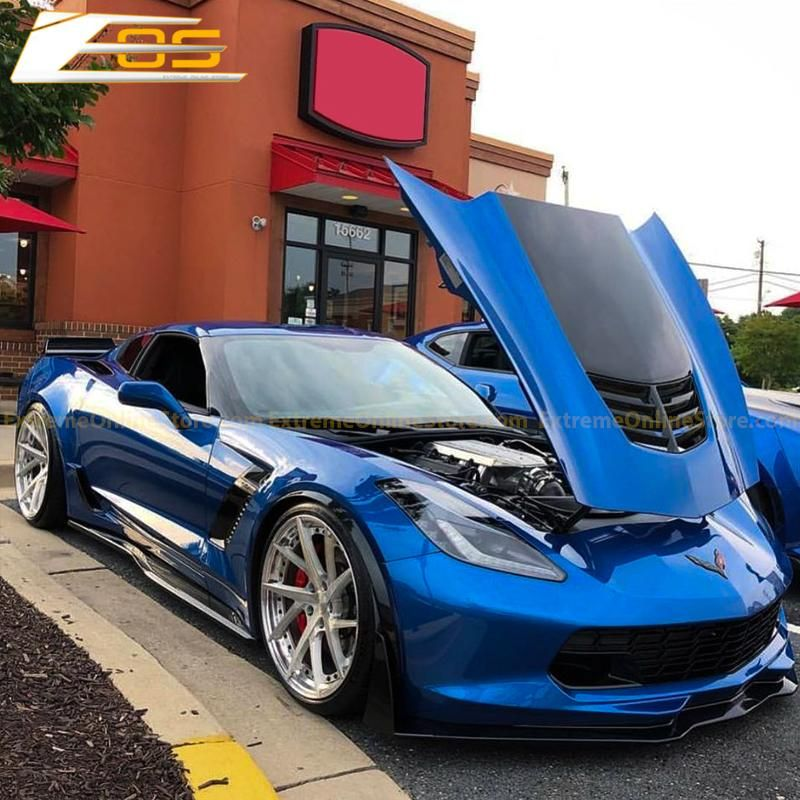 Corvette C7 Grand Sport Z06 Primer Black Side Skirts Rocker Panels Extremeonlinestore Corvette C7 Corvette Corvette C7 Stingray
