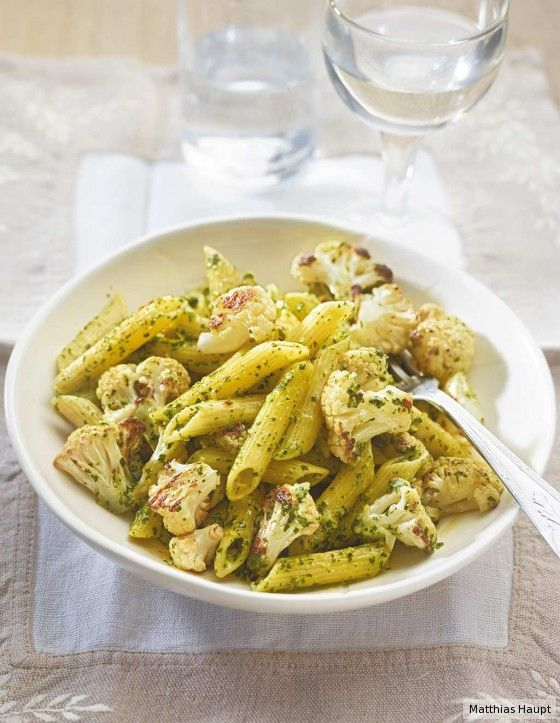 Blumenkohl-Pasta | Rezept | Gemüse: Blumenkohl + Brokkoli ...