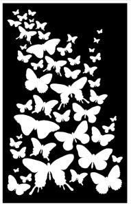 Envol papillons fonts for crafts pochoir pochoir a imprimer toile lumineuse - Silhouette papillon imprimer ...
