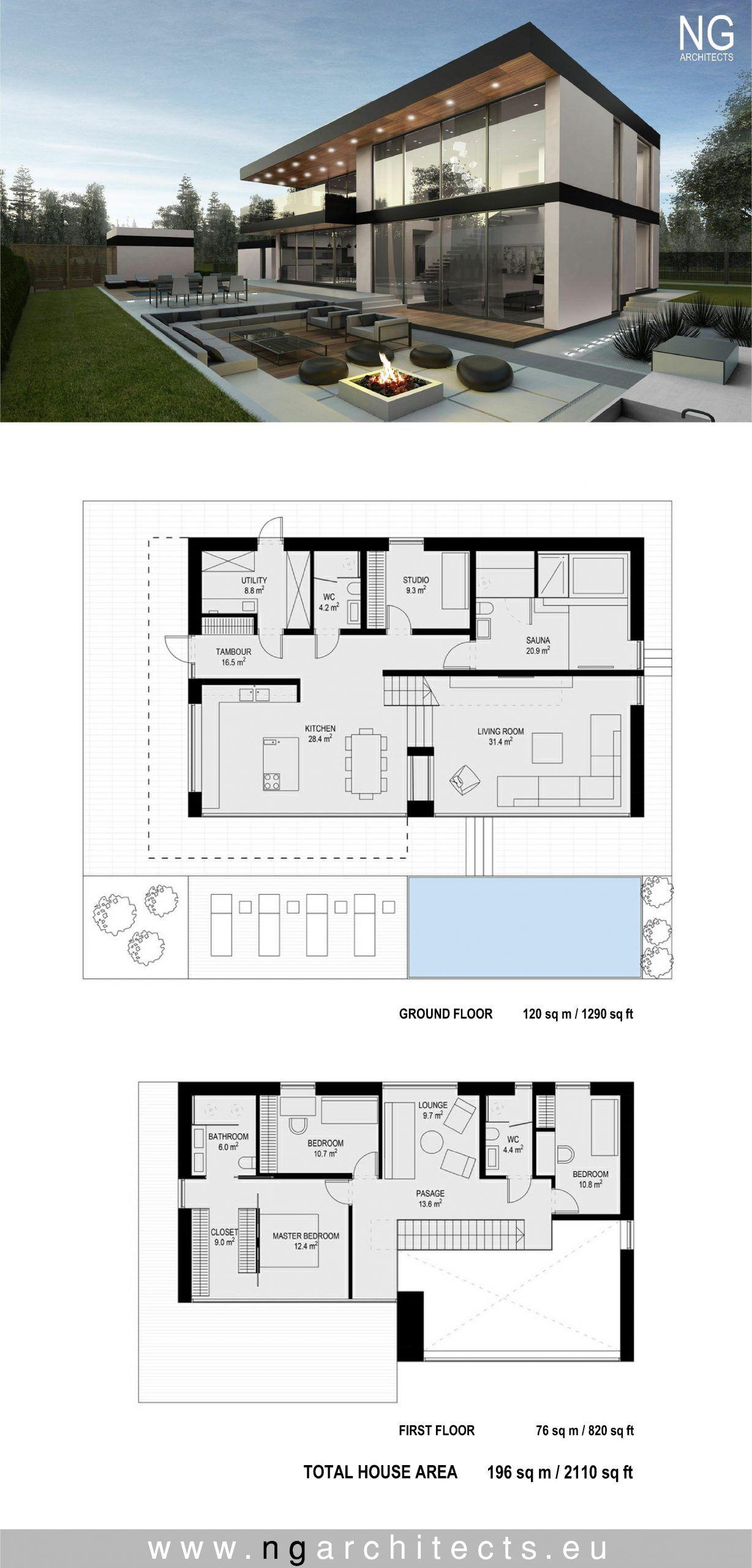 Contemporary Home Floor Plans 2020 House Blueprints Desain Rumah Modern Arsitektur Rumah