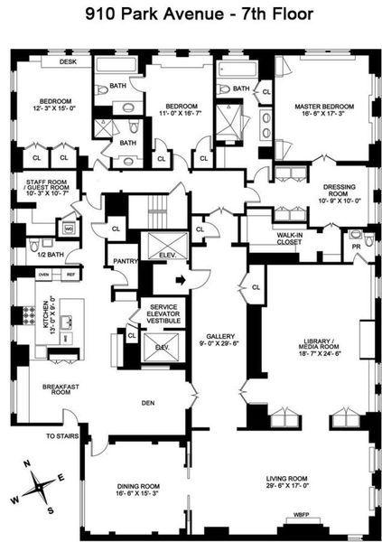Seventh Floor of Prewar Park Avenue Co-op Wants $128M Apartments - fresh 37 blueprint apartments