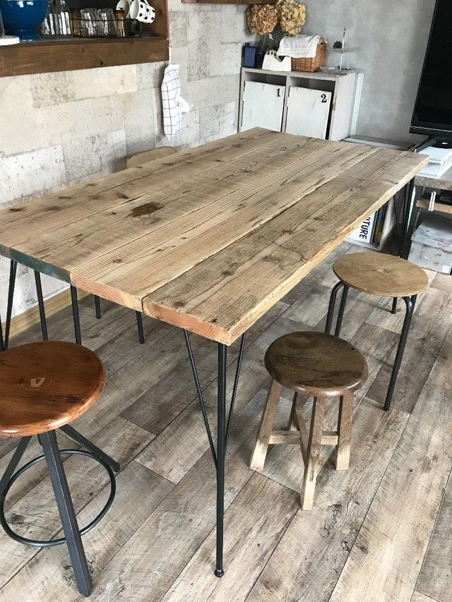 足場板でダイニングテーブルをdiy Limia リミア ダイニングテーブル Diy リビングテーブル Diy ダイニングテーブル モダン