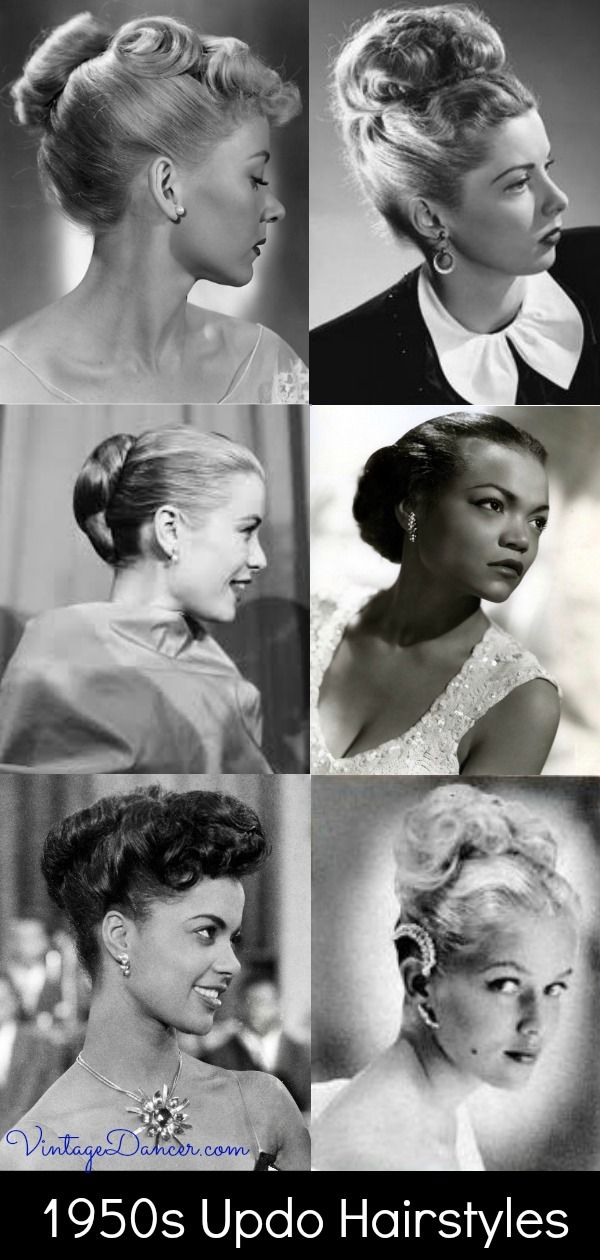 1950s Updo Hairstyles For Long Hair Evening Styles In