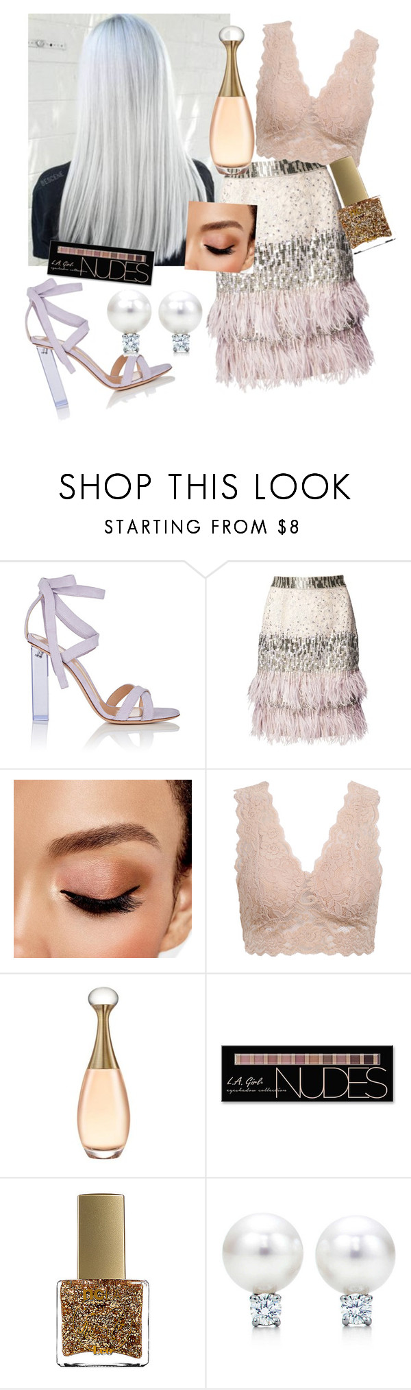 """""""original 👑💕"""" by mgldemartino ❤ liked on Polyvore featuring Gianvito Rossi, Matthew Williamson, Avon, Charlotte Russe and ncLA"""